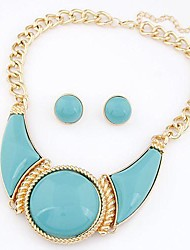z&X® contratada moda colar e brincos conjunto de jóias (1 jogo, 4 cores opções: vermelho, amarelo, azul escuro, azul claro)