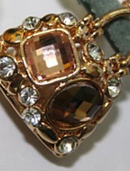 Stylish Cute Colorful Diamond Embellished Mobile Chain Gold