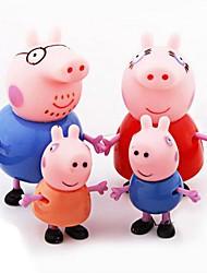 família do porco peppa george e ação pepe valores fixados (4pcs)