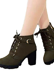 amingna rodada Martin botas femininas botas de salto alto raízes grossas