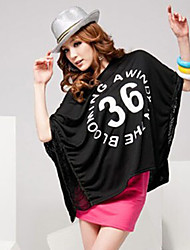 Недавно элегантный кисточкой свободно очаровательный футболка черная