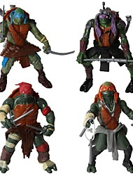 Ninja Turtles Joint Motion Action Figures Set Toys with LED Light (4pcs)