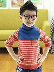 Striped Sweater & Cardigan,Cotton Winter Spring Fall Long Sleeve Regular