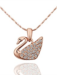 Women's Pendant Necklaces AAA Cubic Zirconia Zircon Gold Plated Simulated Diamond Alloy Animal Design Gold Silver Rose Gold Jewelry