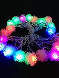 lampe de lumière de bande de lumière rgb en peluche balle 5m 4.8W noël éclair 20-conduit (plug UE, ca 110-220V)