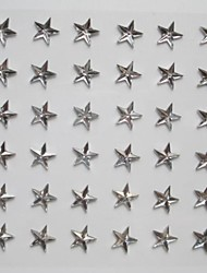 3sheet/set 36pcs/sheet 108pcs Star Rhinestone  Self Adhesive Scrapbooking Stickers
