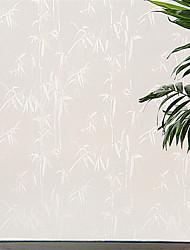 anmutigen Land whitw Bambusblätter Fensterfolie - 0,5 x 5 m (1,64 × 16,4 ft)