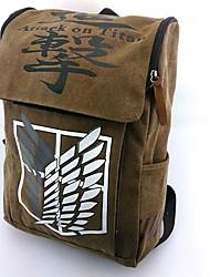Bolsa Inspirado por Attack on Titan Fantasias Anime Acessórios de Cosplay Bolsa / mochila Marrom Náilon Masculino / Feminino