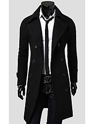 hd Männer schmal geschnittenen Woll langen Mantel