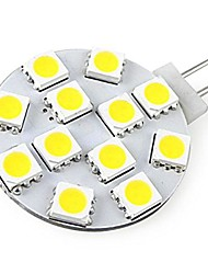 G4 Focos LED 12 SMD 5730 250 lm Blanco Fresco Decorativa DC 12 V