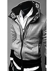 estilo coreano magro duplo zip embelezado jaqueta cinza