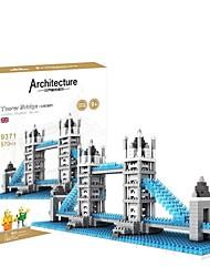 UK Tower Bridge 3D DIY Plastic Puzzle Assembling Building Blocks Game Toy for Kids(570PCS)