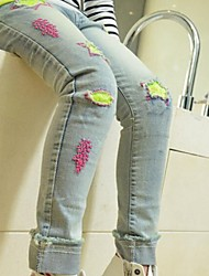 Girl's Junior Washed Blue Jeans