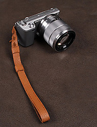 CAM-in CAM2053 Genuine Leather Wrist Strap for Camera(Brown)
