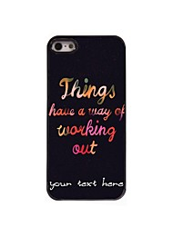 Personalized Phone Case - Working Out Design Metal Case for iPhone 5/5S