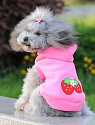 Cat / Dog Hoodie Pink Summer Fruit Wedding / Cosplay