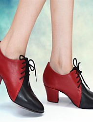 Modern Women's High Heels Chunky Heel Lace-up Dance Shoes