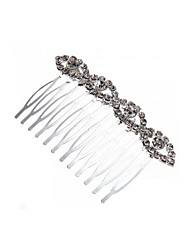 Silver Plated Rhinestone Crystal Wedding Hair Comb Pin