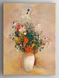 Oil Painting Modern Floral Hand Painted Canvas with Stretched Framed