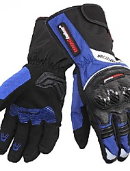 High Quality Winter Warm 100% Waterproof Windproof Protective Full Finger Bike Racing Leather Motorcycle Gloves