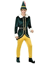 Dark Green and Yellow Spirit Suit Christmas Costume