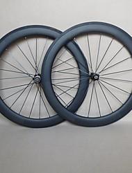 udelsa en U de 23mm de large roues de route en carbone roues 60mm pneu 700c carbone f: 20h r: 24h