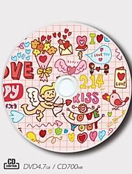 personalizado CD-R / DVD-r patrón amor creador de regalo mágico (juego de 5)