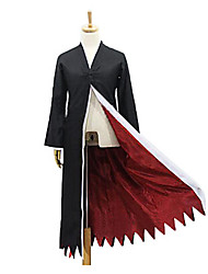 BLEACH Ichigo Kurosaki Black & Red Polyester Cosplay Cloak
