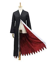 Ichigo Kurosaki eau de Javel noir&polyester rouge cape cosplay