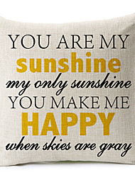 """You Are My Sunshine"" хлопок / лен декоративная подушка крышка"