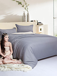 Grey White Polyester King Duvet Cover Sets