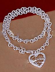 aiko Frauen der koreanischen Art süßen Herzform Halskette