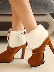 Lacey Fashion All Match Fur Lacing Boots