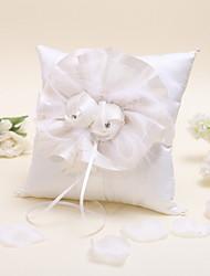 elegante travesseiro anel florido com contas