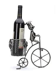 fanjiushi ® de metal vinho rack de casa de escritório mobiliário decorações mesa da arte andando de bicicleta