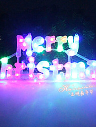 50cm Christmas Decorative Plastic Colourful Letter Brand Lights