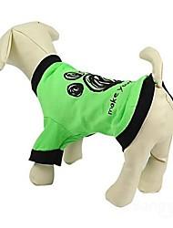 Cat / Dog Shirt / T-Shirt / Clothes/Clothing Green Summer Cartoon Wedding / Cosplay