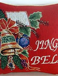 natal do jingle bell jacquard de linho de algodão capas de almofadas decorativas