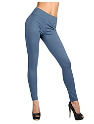 Women's Solid Color Zipper High Waist Stretchy Leggings