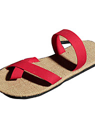 Men's Shoes Casual Fabric Sandals Green/Red