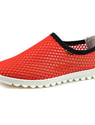 Men's Shoes Fabric Red/Gray