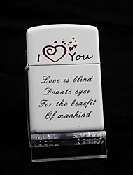 Personalized LOVE White Oil Lighter