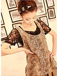 New Style Chic Style Snake Stripe Decorated Chiffon Vest