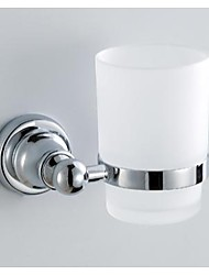 Tumbler Holder,Finish Chrome Material Brass Wall Mounted,Bathroom Accessory 59001