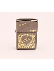 Classic Golden Love-heart Zippo Butane Lighter