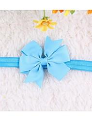 10pcs / enfants mis en fleur coiffe bowknot cheveux bande bébé enfants filles Couvre-chef couleur aléatoire