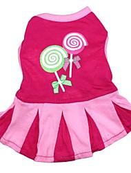 Cat / Dog Dress / Clothes/Clothing Rose Spring/Fall Cartoon