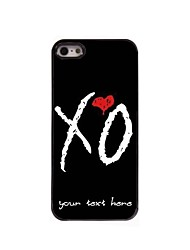 Personalized Phone Case - X O Design Metal Case for iPhone 5/5S