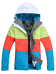 Gsou Snow Outdoor Four Color Splicing Women's Anti-wear Skiing Down Jacket