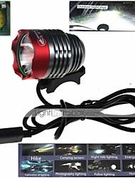 zhishunjia waterdichte 3-mode 1xCree xm-L2 U2 high power fiets lamp (900lm, usb 5v, grijs + rood)